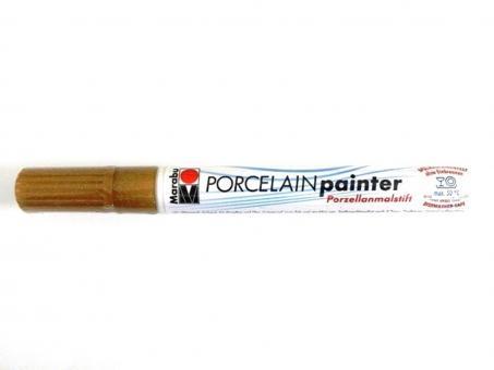 Porcelain Painter gold glitter 584, glitter 1-2 mm, hochglänzend