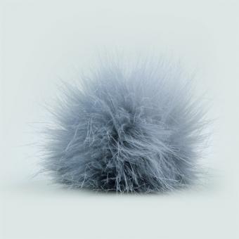 Fellbommel 9 cm, grau 80% Polyacryl, 20 % Polyester, wasch