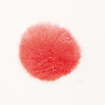 Kunstfell Bommel Koralle, 10 cm Pompon 100 Polyacryl ,