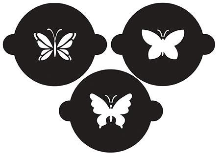 Cupcake Schablonen, Schmetterlinge 3 x 12cm