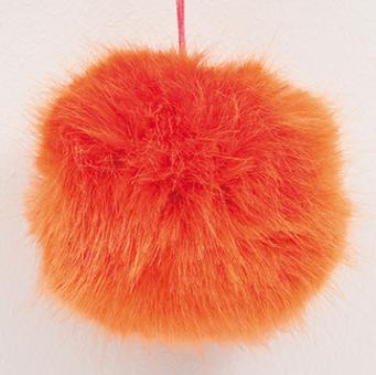 Kunstfell Bommel 13cm,Pompon,Orange 67%Polyacryl, 33% Polyester
