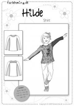 Schnittmuster Hilde Shirt Mehrgrößenschnittmuster 86-164