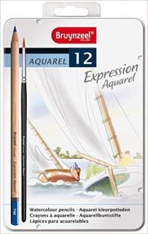 Bruynzeel Expression Aquarell Set 12  Aquarellbuntstifte
