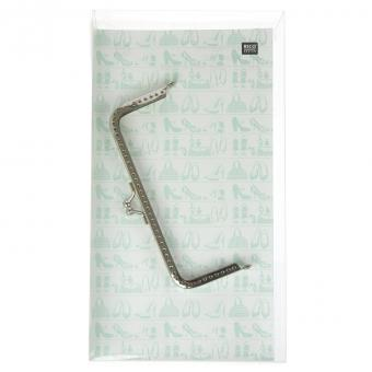 Taschenbügel aus Metall, silber 13x6cm
