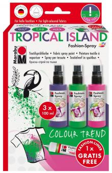 Marabu-FashionSpray Tropical Island 3 x 100ml