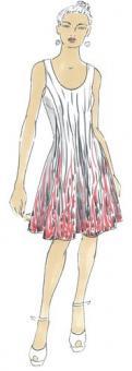 Schnittmuster Damen Kleid Konstanze Größe 34-50