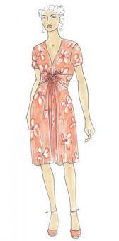 Schnittmuster Damen Kleid Keiki Größe 34-50
