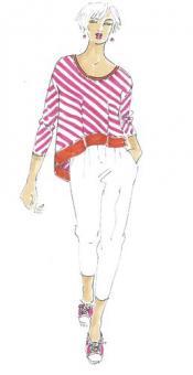 Schnittmuster Damen T-Shirt Glenn Größe 34-50