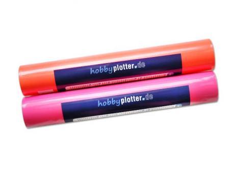 FlexCut - Neon-Aufbügelflex, 32x50cm Neon Pink für Textilveredlung