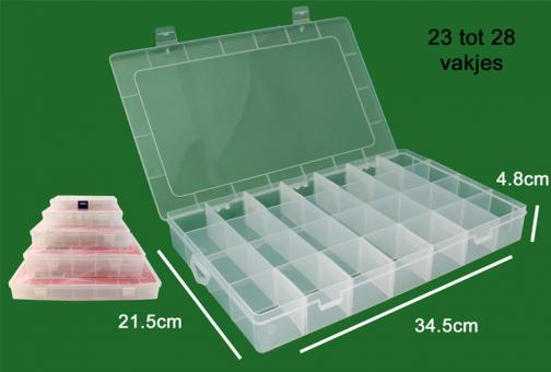 Nähfaden-Box für 23-28 Spulen 34,5x21,5x4,8cm
