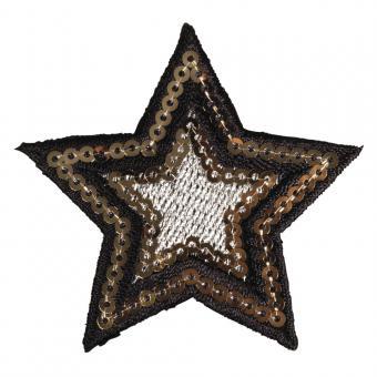 "Rayher Patch ""Star"", 6cm ø, zum Aufbügeln"