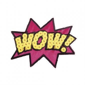 "Rayher Patch ""Wow!"", 6,5x5,2cm, zum Aufbügeln, SB-Btl. 1Stück"