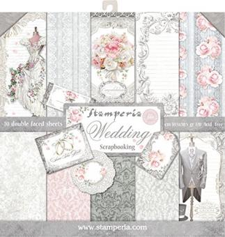 Scrapbook Block Wedding, 30,5x30,5cm, 10 Blätter