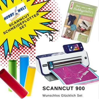Hobbyplotter Scan Cut 900 Starterset mit Anleitungsbuch und Plottfolie