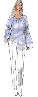 Schnittmuster Damen Shirt Nomi Größe 34-50