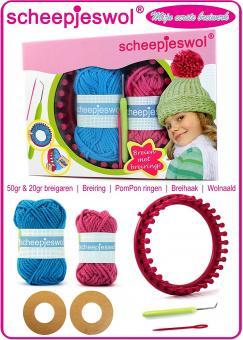 Strickset Mütze mit Scheepjes Wolle und Strickring