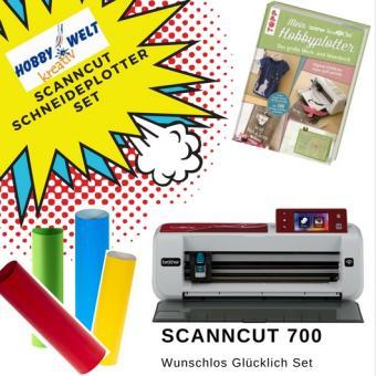 Hobbyplotter Scan Cut 700 Starterset mit Anleitungsbuch und Plottfolie