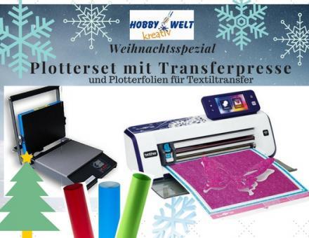 ScanNCut Hobbyplotter 900 Spezialset mit Transferpresse und Folien