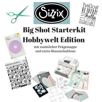 Sizzix Big Shot Plus Starter Kit Hobbywelt Spezial m. Zusatzmaterial