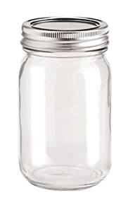 Glas mit 2-tlg. Deckel, 650ml 8,5x7x17,5cm
