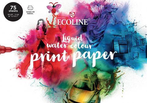 Ecoline Druckpapier A4, 75 Blatt, 150g/m²