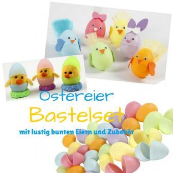 Kunterbuntes Oster Bastelset mit Eiern und Zubehör