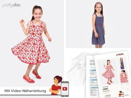 Schnittmuster Leni Kinderkleid by pattydoo, Größe 92-146