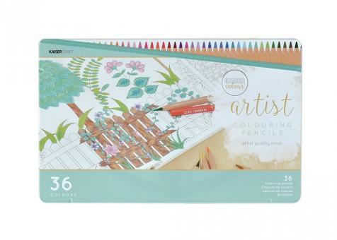 Artist Buntstifte Set 36 Farben im Metallkarton
