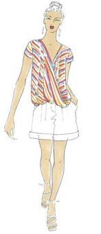 Schnittmuster Damen T-Shirt Kathrin Größe 34-50