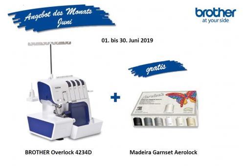 Angebot des Monats: Bother 4234D inkl. Madeira Aerolock Garnset