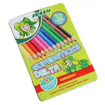 Jolly Supersticks Delta, 3-kant Buntstifte, 12 teilig