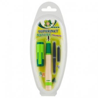 Jolly Superinky Nature, Clip grün, Schulfüllhalter