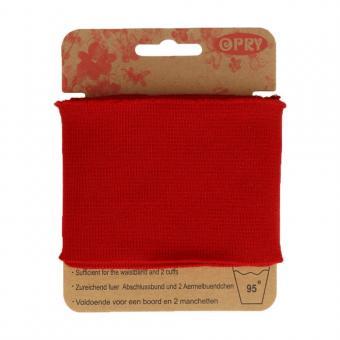 Opry Bündchen elastisch 6,5cm 1,1m, rot