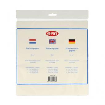 Opry Schnittmusterpapier 2m² transparent