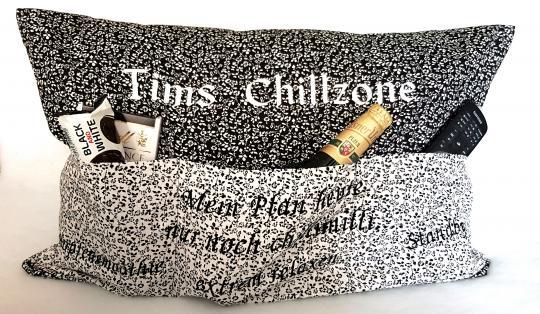 Chillzone Kissen Nähset 64x 40 cm, mit Plottschriften