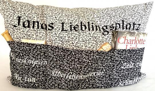 Lieblingsplatz Kissen Nähset 64x 40 cm, mit Plottschriften