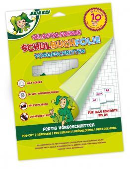 JOLLY Schulbuchfolie vorgeschnitten 10 Blatt Packung