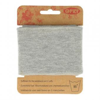 Opry Bündchen elastisch 6,5cm 1,1m, hellgrau