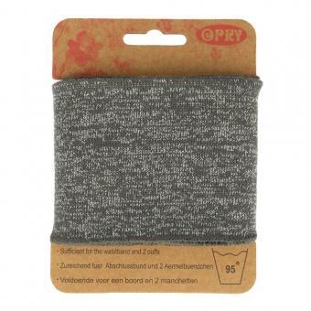 Opry Bündchen elastisch 6,5cm 1,1m, grau-silber