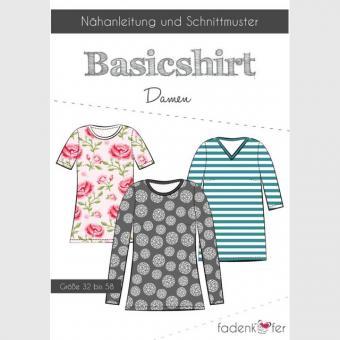Papierschnittmuster Basicshirt Damen