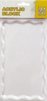 Transparent Stempel Block 160x90x8mm