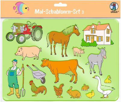 Mal-Schablonen-Set 3 6 transparente Schablonen