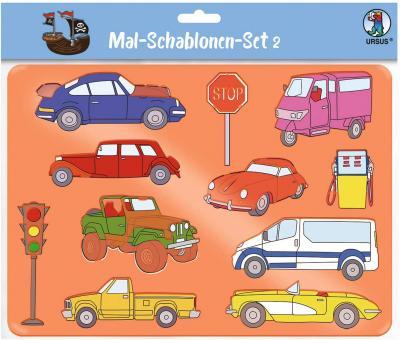 Mal-Schablonen-Set 2 6 transparente Schablonen