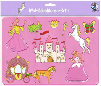Mal-Schablonen-Set 1 6 verschiedene Schablonen