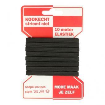 Elastik 6mm, schwarz 10m