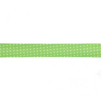 Schrägband gepunktet 20mm, grün Farbe 20