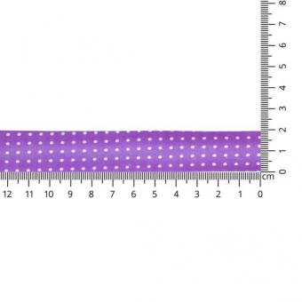 Schrägband gepunktet 20mm, lila Farbe 21