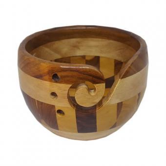 Scheepjes Garnschale Holz braun/beige