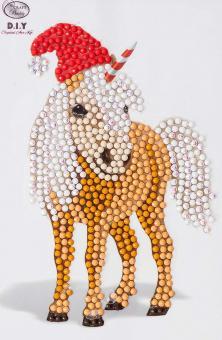 Crystal Art Motiv Kit, Horse 10x15cm