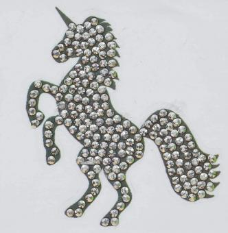 Crystal Art Motiv Kit, Unicorn 9x9cm